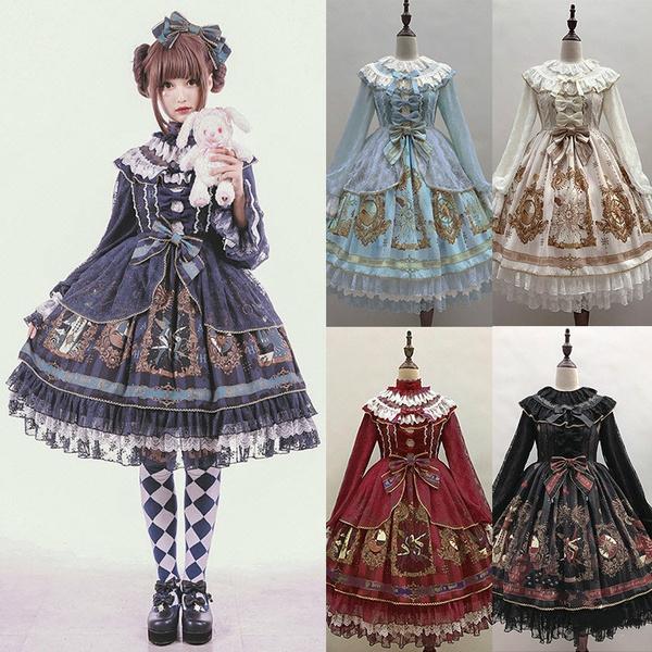 cute, princesscrown, print dress, Cosplay Costume