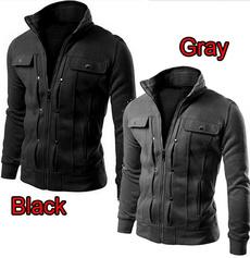Polyester, zippermensjacket, Sleeve, turtleneck