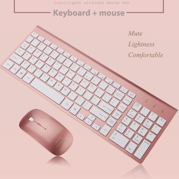 White Black Rose Gold Gold Silver Bluetooth Keyboard Wireless Mouse Keyboard Connect With The Computer Wish