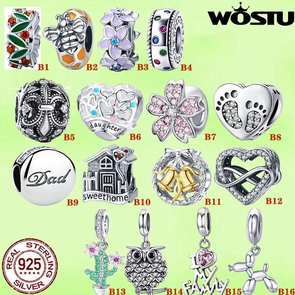 Charm Bracelet, Heart, charms for pandora bracelets, Fashion