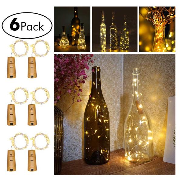 bottlestringlight, Decor, lights, bottlelightscork