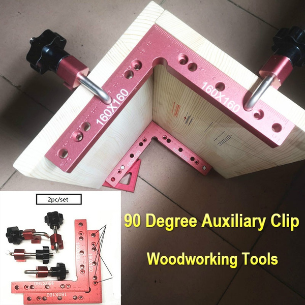 L-Shaped Auxiliary Fixture Positioning Fixed Clip Square Ruler Woodworking Tool