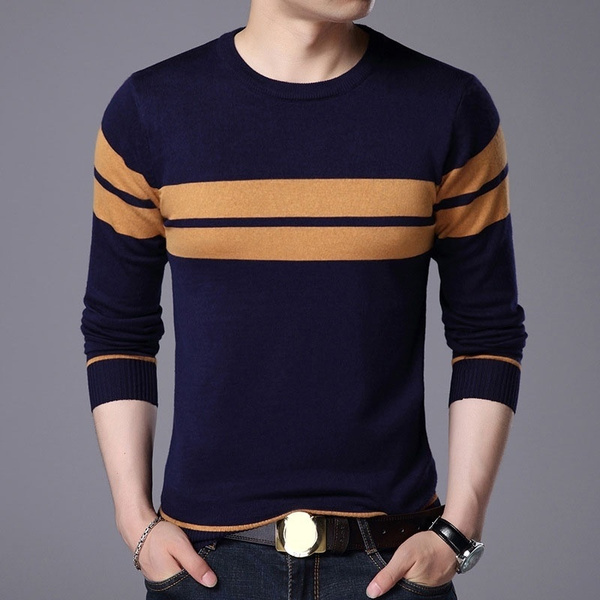 Cotton, longsleevedroundnecksweater, Slim Fit, Winter