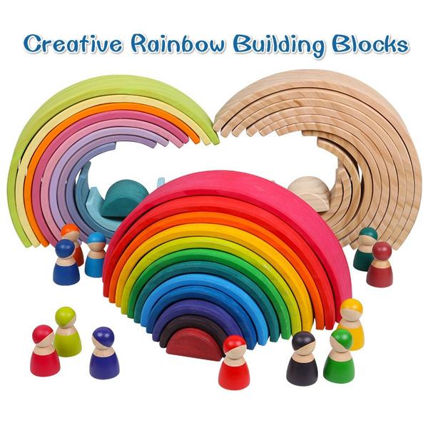rainbow, creativebuildingblock, montessoritoy, kidsbuildingblock
