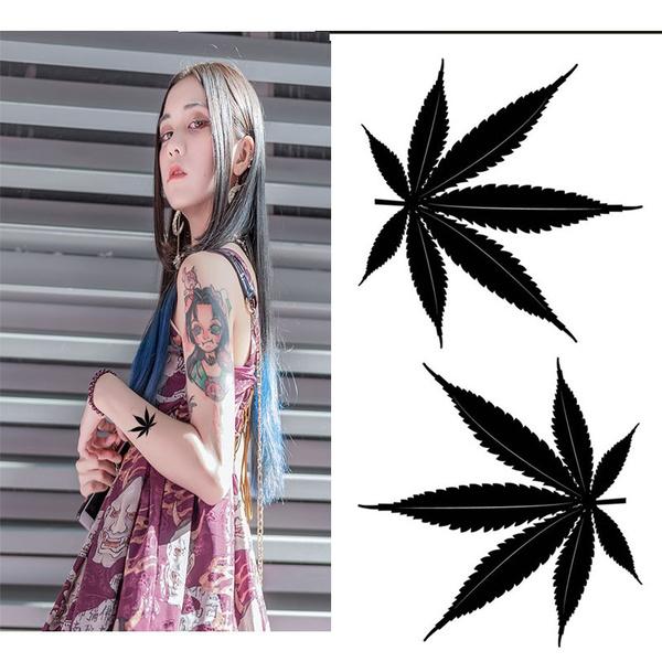 butterfly, tattoo, art, marijuanaleaf