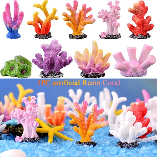 Gift Fish Tank Ornaments Aquarium Decor Desktop Adornment Landscape Making Simulation Starfish Resin Reef Rock Artificial Coral Wish