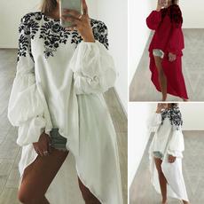 blouse, Chiffon Shirt, lanternsleeve, Sleeve