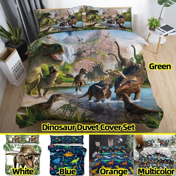 kids, dinosaurduvetcoverset, beddingforkid, Bedding