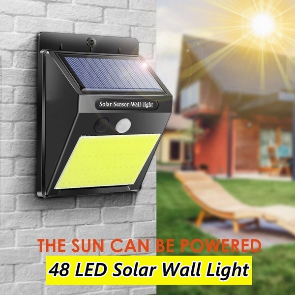 2018 Wasserdichte 6 LED Solar Power Lichtsensor Wandleuchte Outdoor Gartenz R9X9