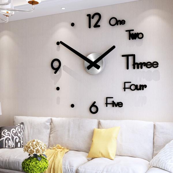decoration, clockwallsticker, creativewallclocksticker, Clock