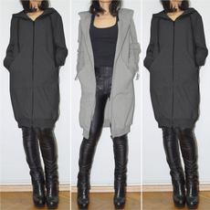jackets for women, Long Sleeve, Women's Fashion, sweatshirtcoat