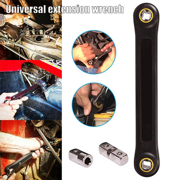 DIY Extension Universal Wrench Automotive Ratchet Wrench Adapter Converter Tools