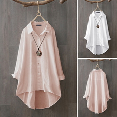 womenwhiteshirt, blouse, Plus Size, cottonlinen