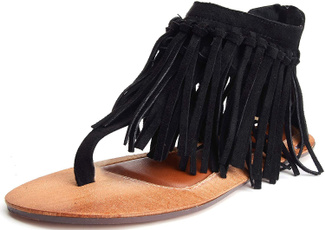 Tassels, Sandals, Women Sandals, Zip