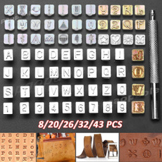 Steel, letterstampset, crafting, Stamps