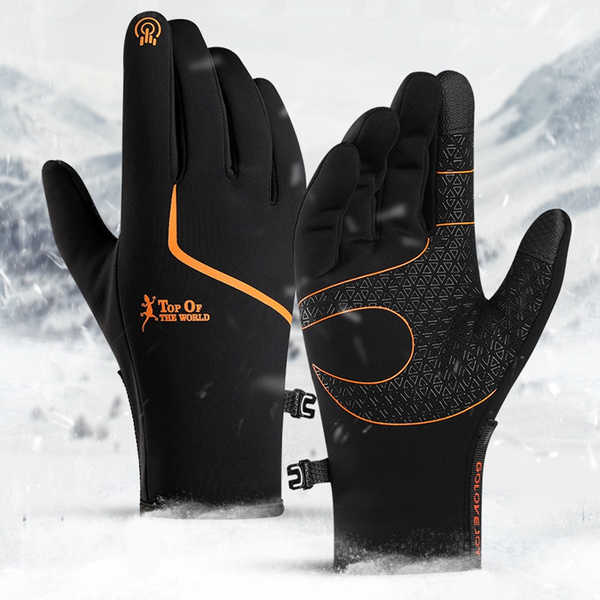 Men Women Winter Sports Windproof Warm Gloves Touch Screen Cycling Ski Mittens
