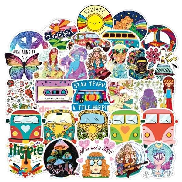 Car Sticker, luggagesticker, hippie, Cars