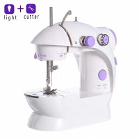 DTOWER Mini Electric Sewing Machine Portable Household Sewing Machine Beginner Tailors Free-Arm Crafting Mending Machine