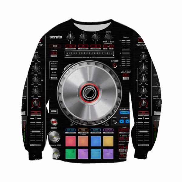 Hip Hop, 3D hoodies, Fashion, Dj