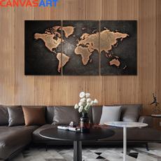 Map, art, Wall Art, canvaspainting