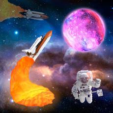 moonlight, spaceshuttlelamp, lednightlight, rocketlight