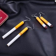 punk earring, Stud Earring, buttearring, Cigarettes