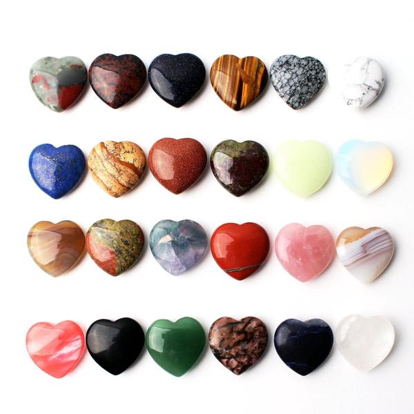 Blues, Heart, crystal pendant, quartz