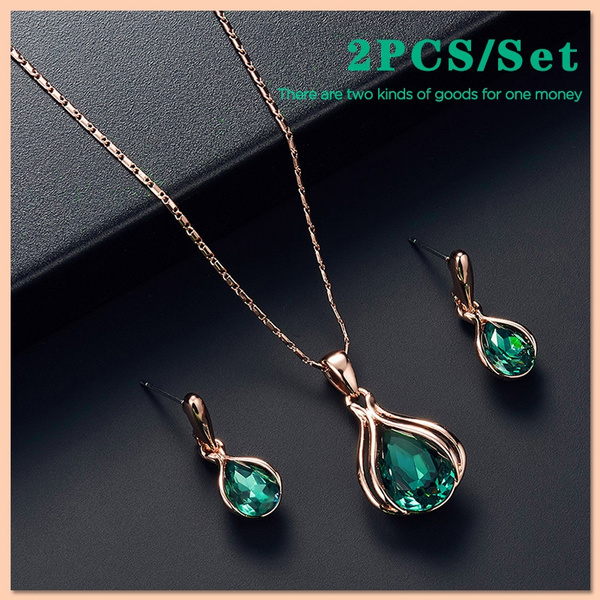 Blues, Jewelry Set, Jewelry, Crystal Jewelry