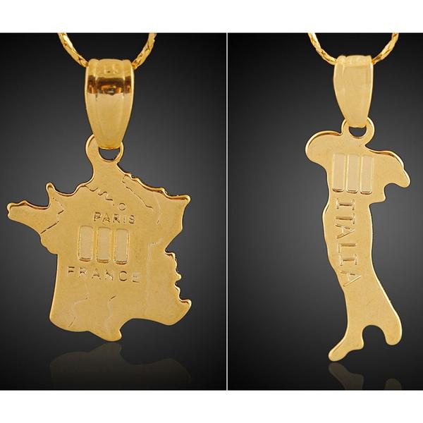 nationmap, Chain, gold, chain50cm