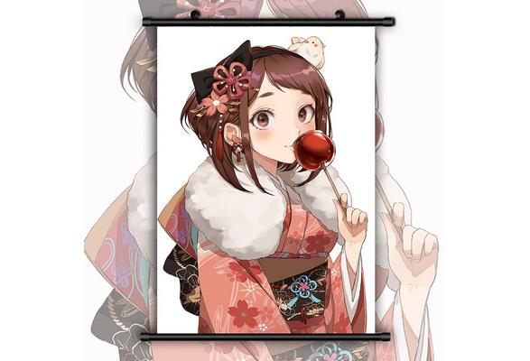 Boku no Hero academia Uraraka Anime HDPrint Wall Scroll Home Decor Cosplay