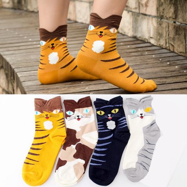 cartoonsock, Cotton Socks, Cotton, womenssock