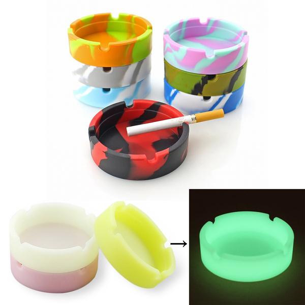 fluorescentashtray, portable, ashtray, Silicone