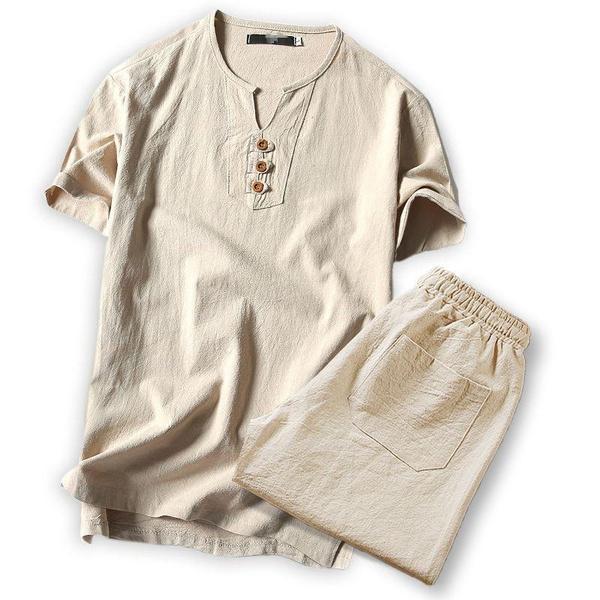 Summer, Shorts, Set, Sleeve