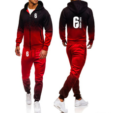 gradientcolor, 3D hoodies, trousers, Men's Fashion