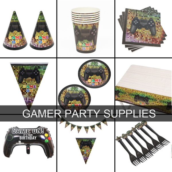 party, gamerpartysupplie, birthdayparty, fortniteparty