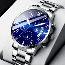 Steel, Fashion, business watch, Clock