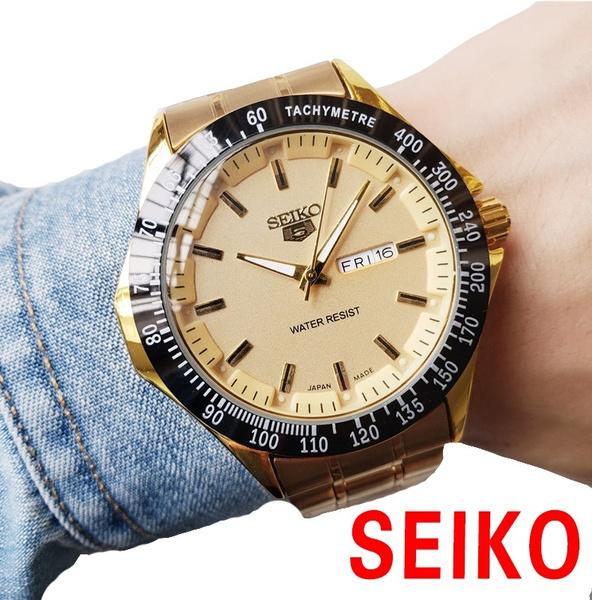 Steel, quartz, classic watch, Waterproof