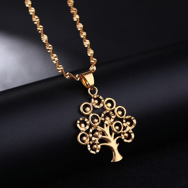 trendy necklace, yellow gold, Collar, Chain