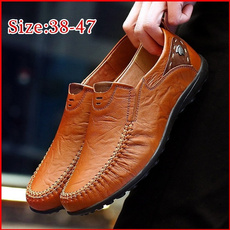 casual shoes, leather shoes, lazyshoe, leather