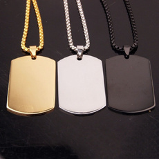 Party Necklace, Chain Necklace, necklaces for men, militarytagnecklace