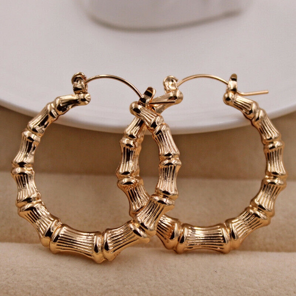 bighoopearring, 18k gold, Jewelry, gold