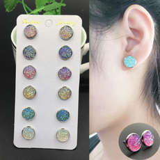 6pairsearring, roundearringset, earrings6set, Stainless Steel
