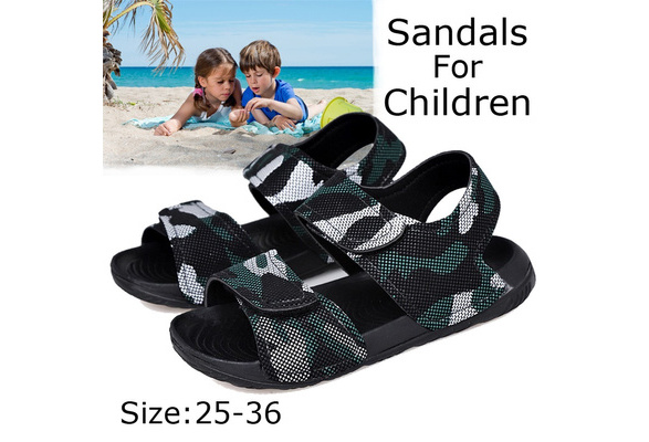 uschangfan Toddler Boys /& Girls Beach Pool Slides Sandals Comfort Garden Water Shoes Clogs Slippers Non-Slip Summer for Kids Size