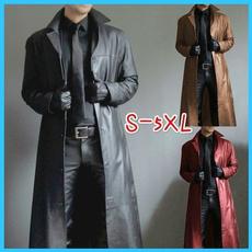 motorcyclecoat, men coat, Coat, Long Sleeve