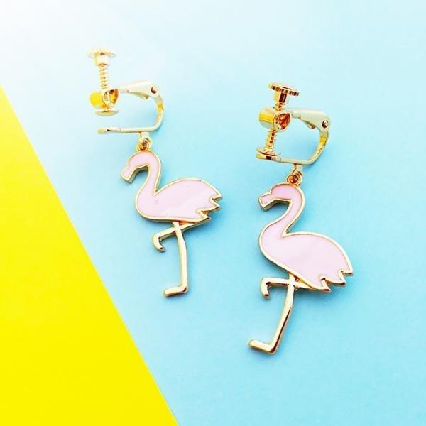 on, flamingo, Jewelry, Earring