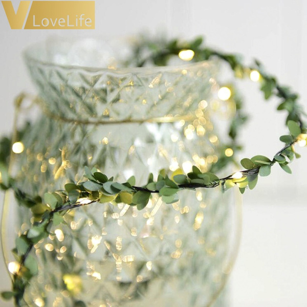 leaves, led, Christmas, Garland