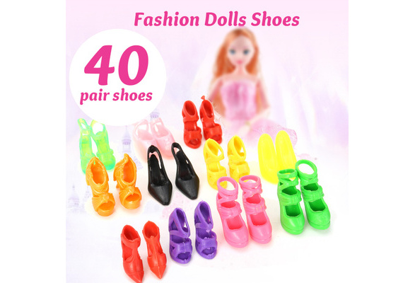 """40 Pair Shoes For 11.5/"""" Dolls Barby DollsChrismas Gifts B30 Toys"""
