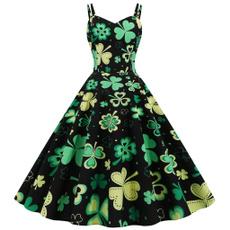 Summer, Plus Size, Swing dress, Long Sleeve