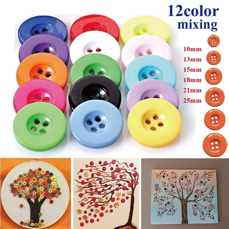 Metal color, 500PCS Tupalizy Assorted Sizes and Shapes Resin Buttons for Sewing Mixed Colors Round Craft Buttons for Kids DIY Art Craft Project Manual Button Painting Classroom School Home Use