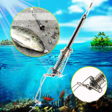 springejectionfishhook, fishingcatchdevicehook, automaticfishingtackle, Spring
